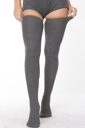 SMOKEY MOUNTAIN THIGH-HIGH SOCKS