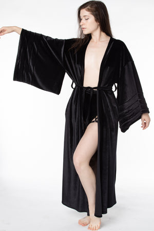 RTS MAMBA VELVET FULL-LENGTH ROBE