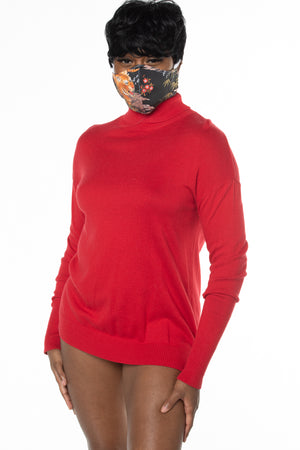 RTS RED TURTLE NECK KNIT