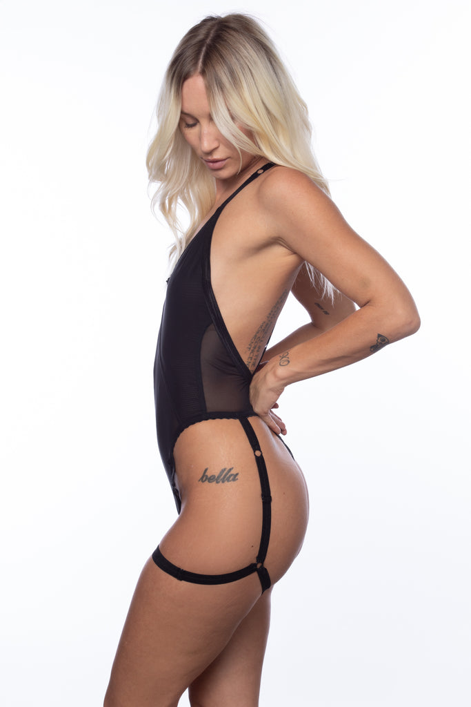 RTS NIGHTSHADE DEEP-V HARNESS BODYSUIT