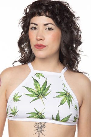 RTS MARY JANE HIGH-NECK SWIM TOP