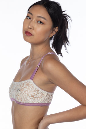 RTS FAWN LACE CROSS BACK BRALETTE