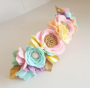 """Pastel Rainbow"" Luxe Crown"