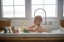 Load image into Gallery viewer, Hippo- Natural Rubber Baby Rattle & Bath Toy