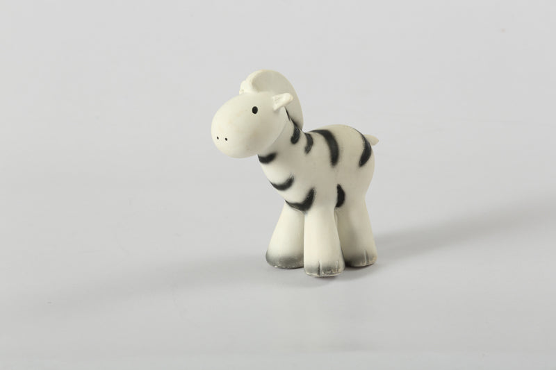 Zebra- Natural Rubber Baby Rattle & Bath Toy
