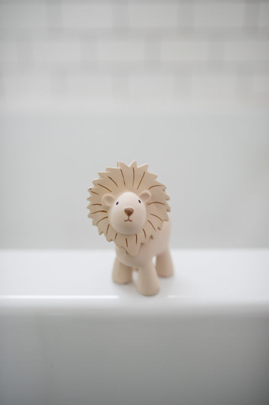 Lion- Natural Rubber Baby Rattle & Bath Toy