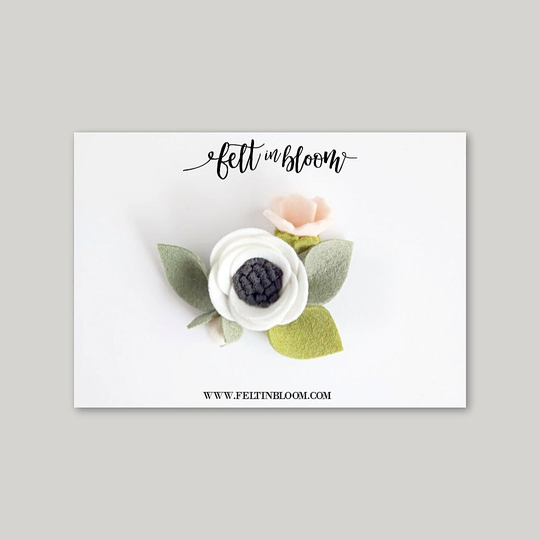 ANEMONE ~ PETITE BLOOM HEADBAND/CLIP