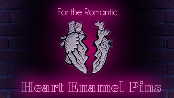 For the Romantic - Heart Shaped Enamel Pins