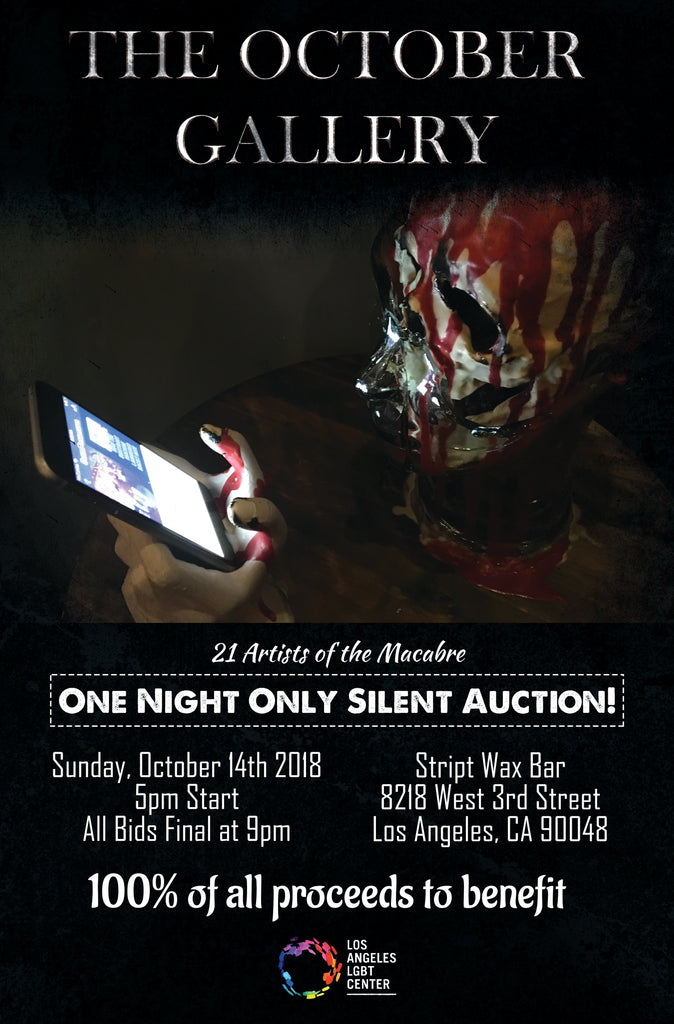 The October Gallery in LA, Oct. 14th - See Spooky Art and Support the LGBT Center