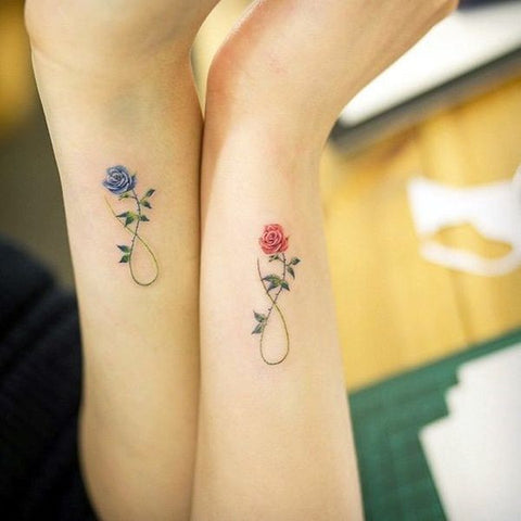 matching tiny tattoos for sisters