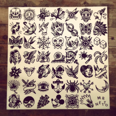 Traditional tattoo flash for filler