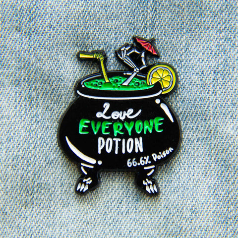 """Love Everyone Potion"" pin."