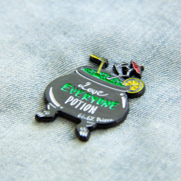 """""""Love Everyone Potion"""" Witch's Brew Cocktail Enamel Pin 1"""