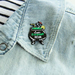 """Love Everyone Potion"" Witch's Brew Cocktail Enamel Pin"