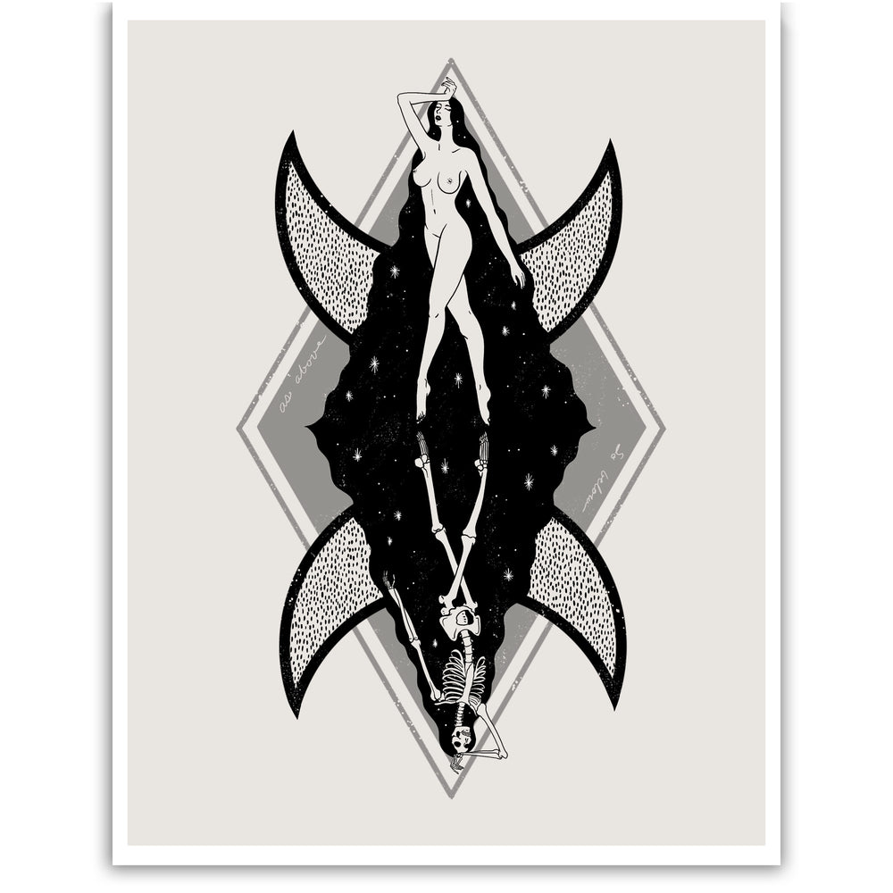 Witchy, bohemian wall art for women.