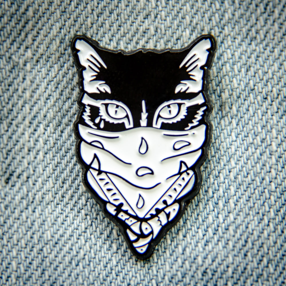 Gangster Cat Enamel Pin