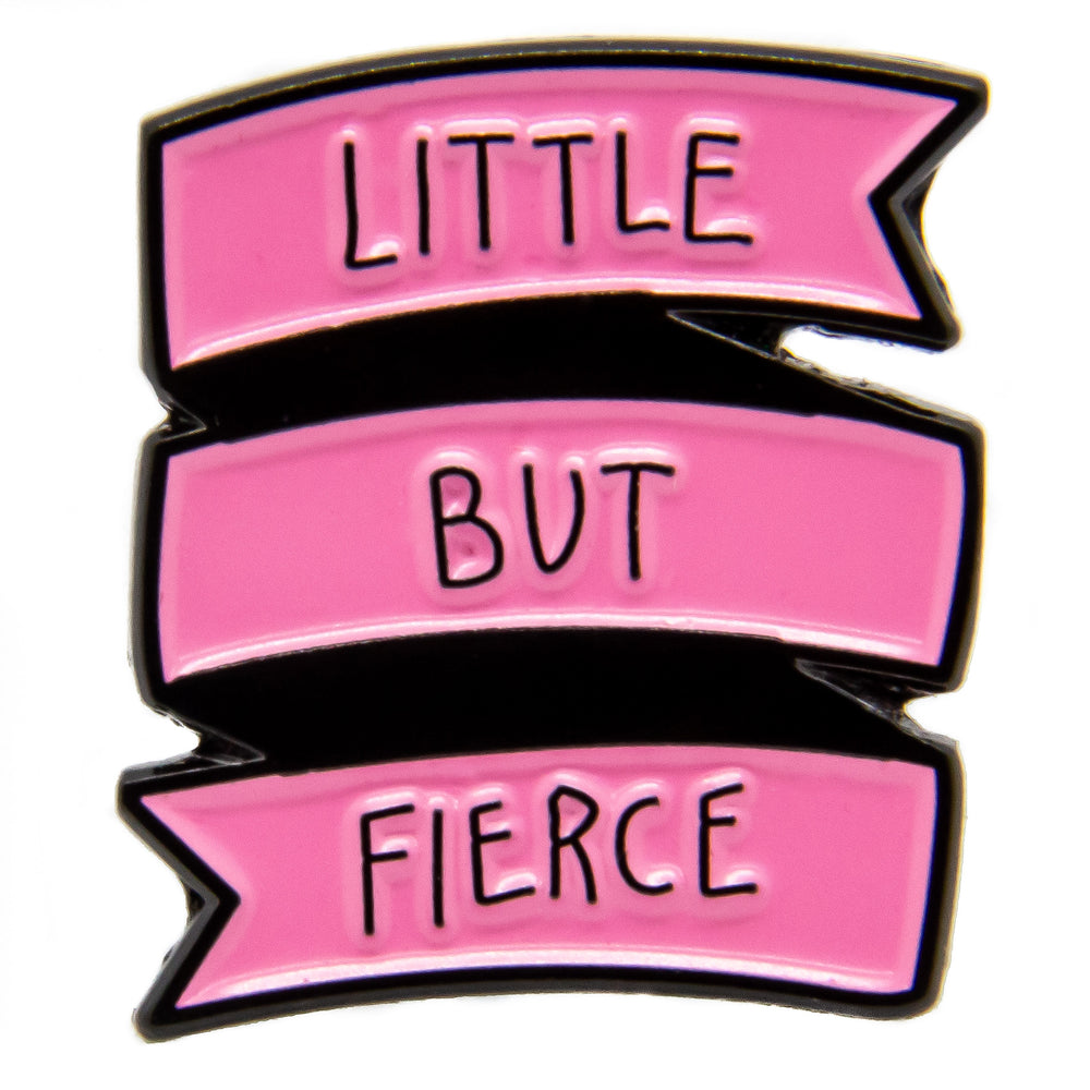 A cute, inspiring lapel pin for women.