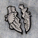 Broken Anatomical Heart Enamel Pin Set - Valentine's Day Gift