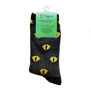 Yellow snake eye socks for witchy style.