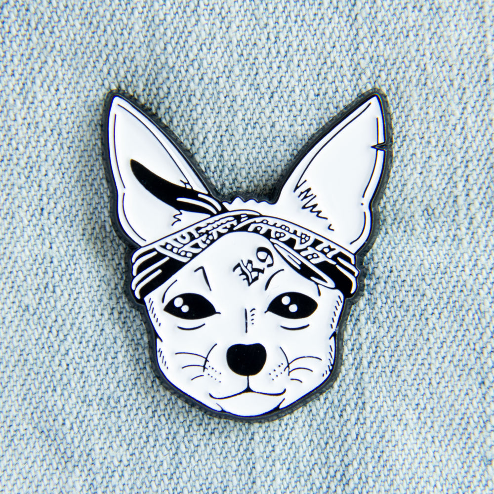 Rapper Dog Enamel Pin