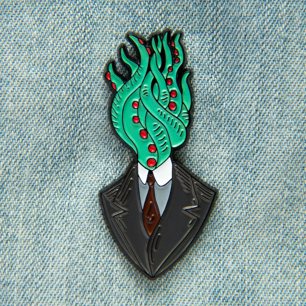 Tentacle Man Vignette Enamel Pin