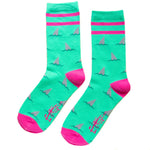 Funny shark fin patterned socks for men and women's quirky fashion.