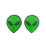 Green Alien Stud Earrings