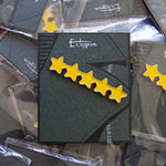 A five star lapel pin for men and women.