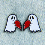 Ghost Heart Enamel Pin Set of 2