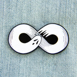 Ghost Infinity Enamel Pin