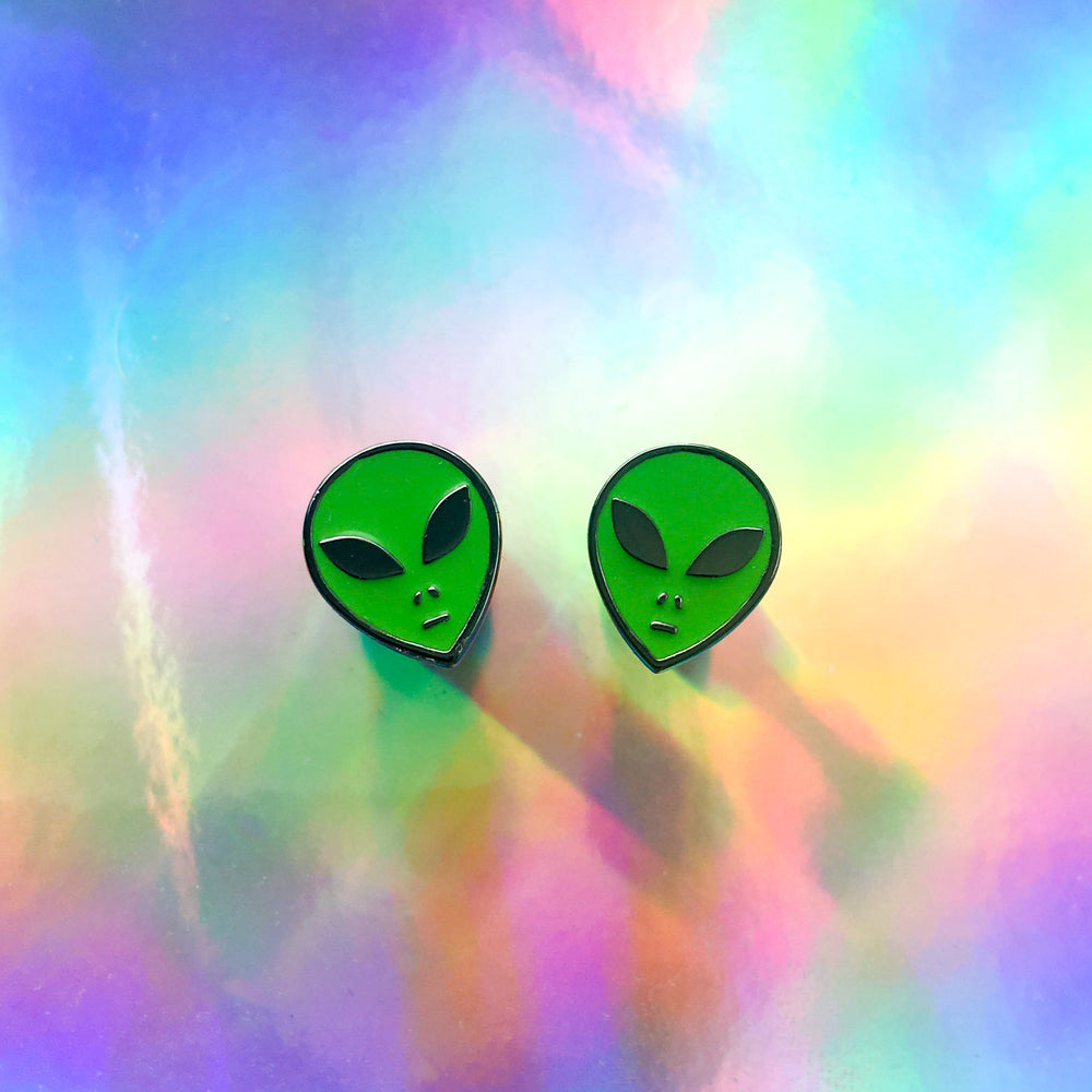 Tripy alien accessories for festival and rave outfits.