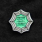 A cute enamel pin for girls who love horror movies.