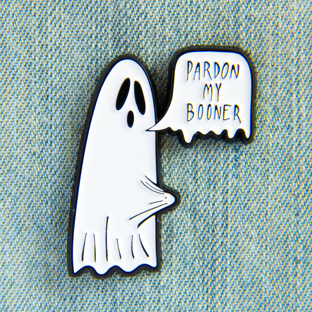"""Pardon My Booner"" Ghost Enamel Pin"