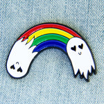 Rainbow Ghosts Enamel Pin