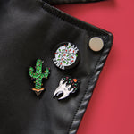 Satanic Christmas enamel pin collection for unisex style.