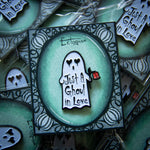 A cute ghost pin designed by Ectogasm.