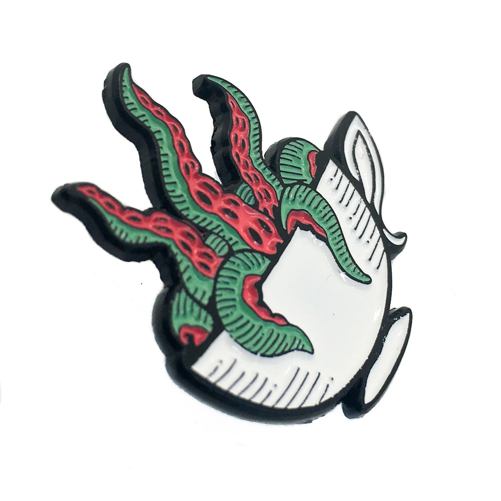 A unique enamel pin designed by an indie brand. The style is good for both men and women.