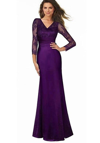 Deep Back Mermaid Formal Dress