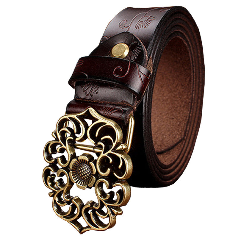 Vintage Style Leather Belt