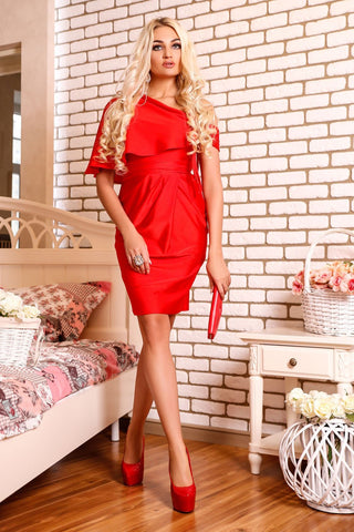 Romantic Style Red Dress