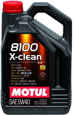 Motul 8100 X-Clean Engine Oil 5W-40 5L