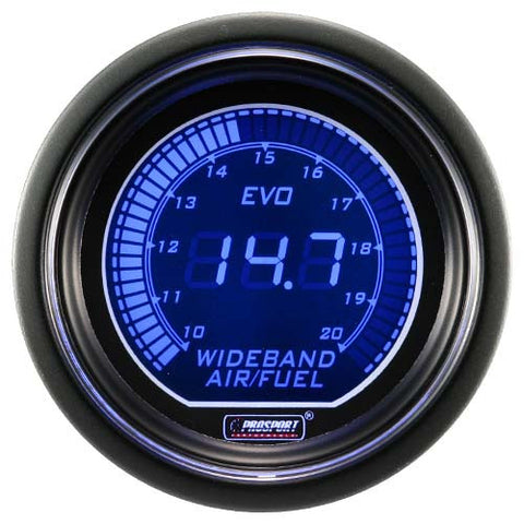 ProSport Wideband Air Fuel Ratio Gauge w/Bosch Sensor 52mm Blue