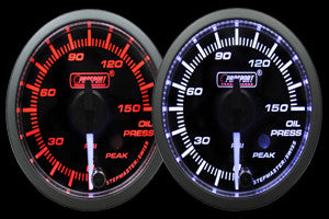 ProSport Oil Pressure Gauge Electrical w/Sender 52mm Amber/White