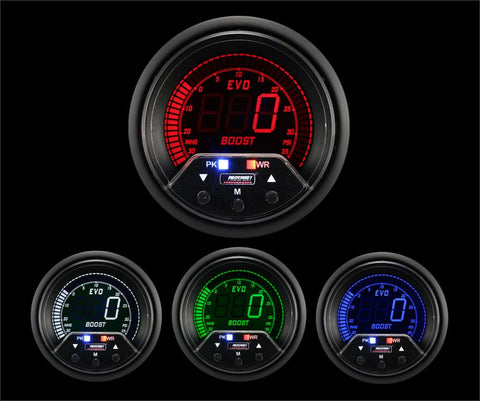 ProSport Premium EVO Boost Gauge w/Waterproof Sender PSI 60mm Multi Colored