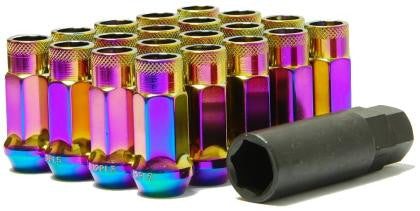 Muteki SR48 Neo Chrome Open Ended Lug Nuts 12X1.25
