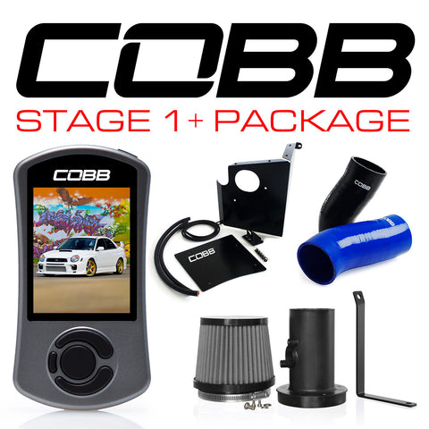 COBB Tuning Stage 1+ Power Package Blue Subaru WRX 02-05