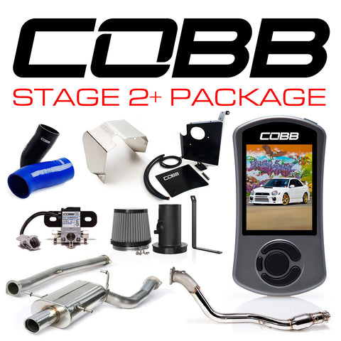 COBB Tuning Subaru WRX 02-05 Stage 2+ Power Package Black Silicone