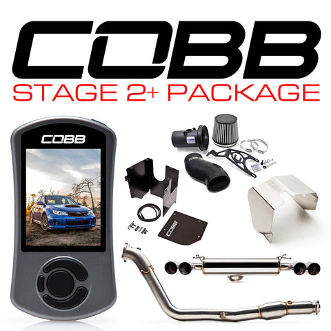 COBB Tuning Stage 2+ Power Package Black Silicone Subaru STI 08-14 Hatcback