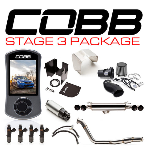 COBB Tuning Stage 3 Power Package Blue Silicone Subaru STI 08-14 Hatchback