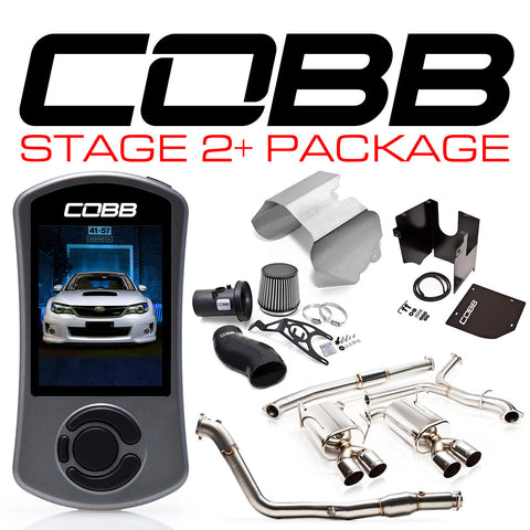 COBB Tuning Stage 2+ Power Package Black Silicone Subaru WRX 11-14